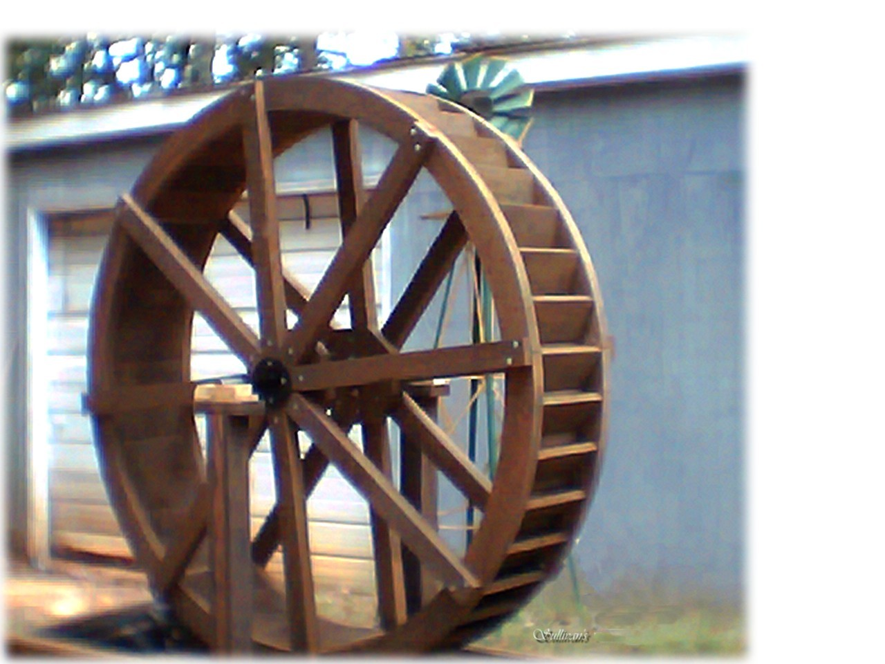 6 Foot Water Wheel By Sullivan Water Wheels