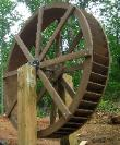 12 foot waterwheel in Hickory NC by Sullivan waterwheels