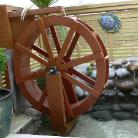 WaterWheel Built in New Zealand from  Wheel plans